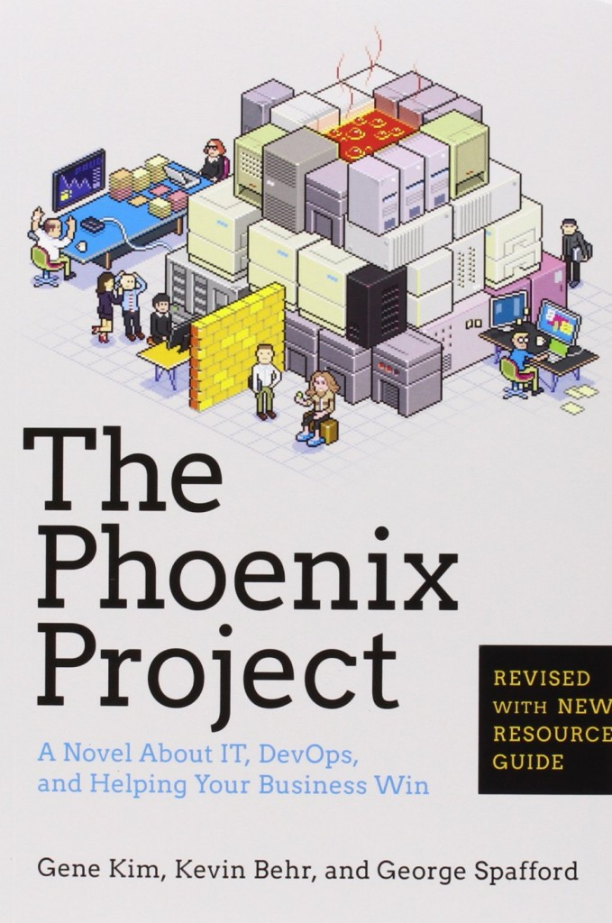 Title cover of the Phoenix Project book