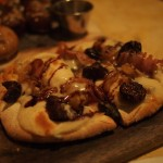 Fig and cheese flatbread
