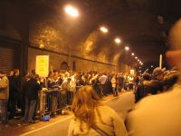 Lining Up under the tunnels of London Bridge