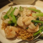 Seafood chow mein (crispy)