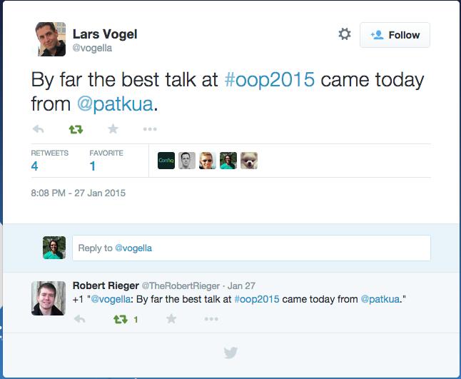 OOP2015 - Best Talk