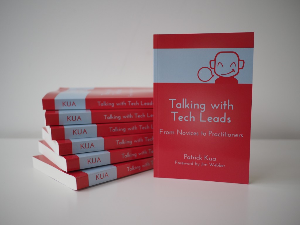 Stack of books from Talking with Tech Leads