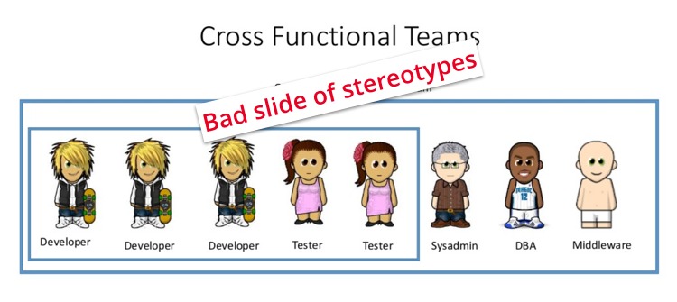 Bad slide of stereotypes