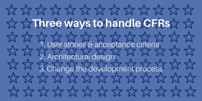 Three ways to handle CFRs image