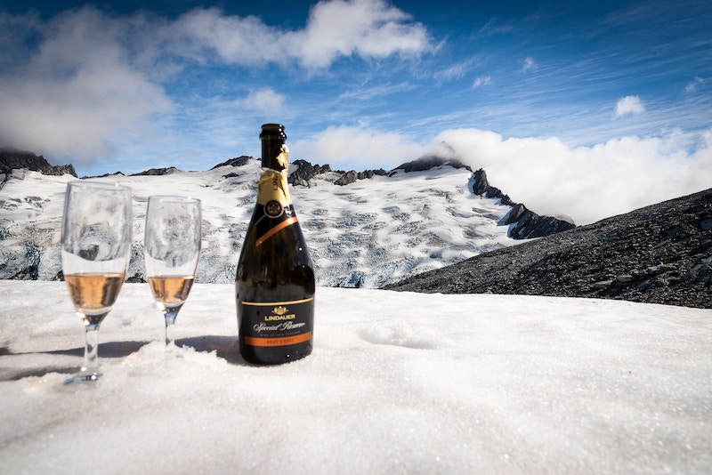 Sekt on a mountain