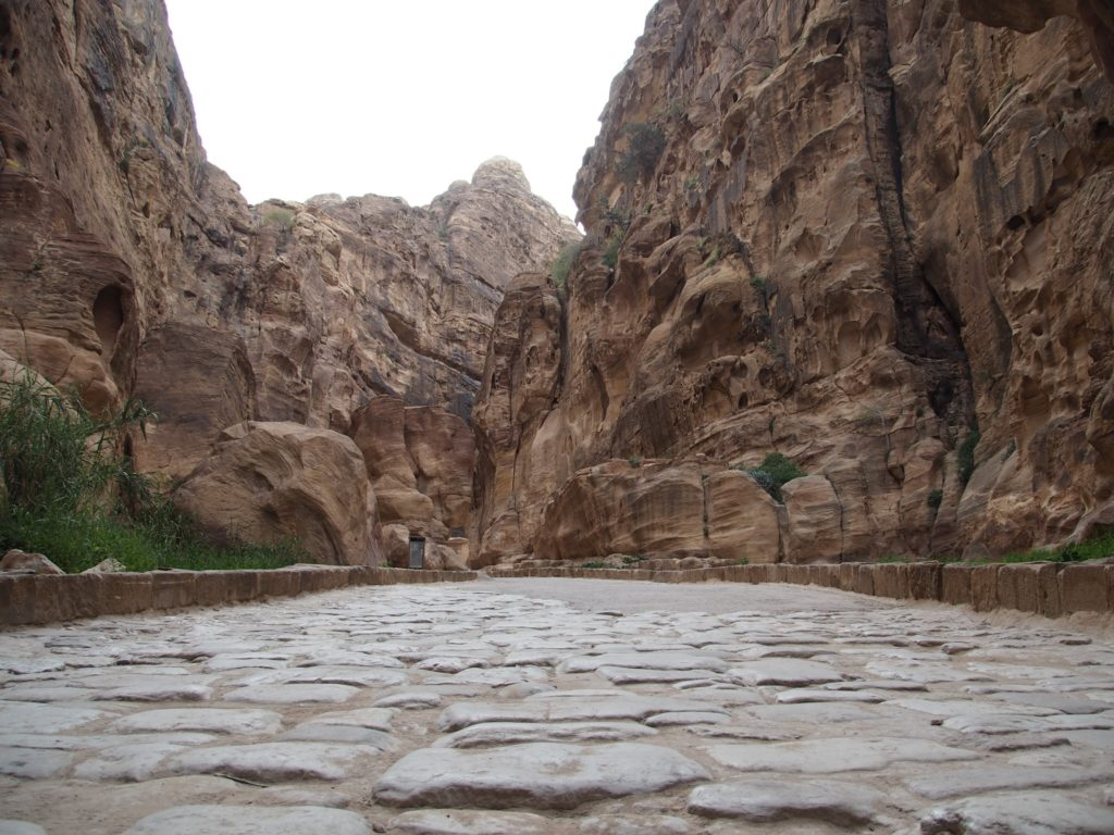 Cobbled path at Petra