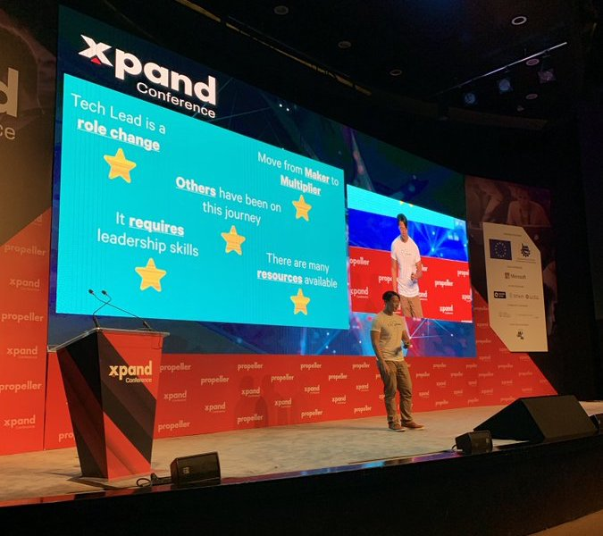 Patrick Kua speaking at Xpand Conference in Amaan