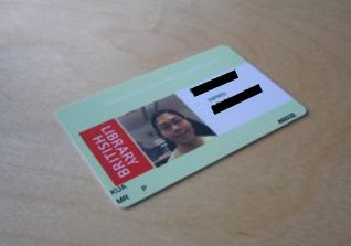 British Library Reader Card