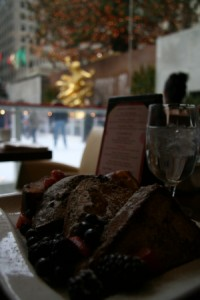 French toast at the Rock Center Cafe