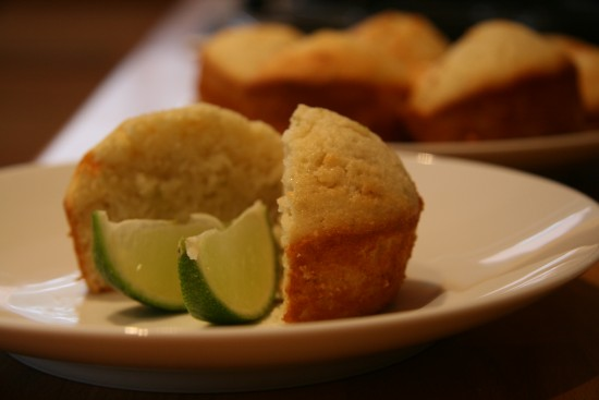 Lime and Coconut Friands