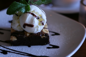 Brownie with Coconut Ice Cream