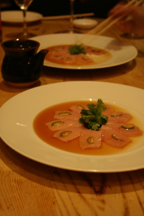 Yellowtail with Jalepeno