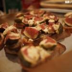 Fig, Goat's Cheese and Honey Bruschetta