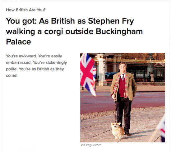 I'm as British as Stephen Fry